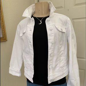 """ELLE"" white denim jacket"